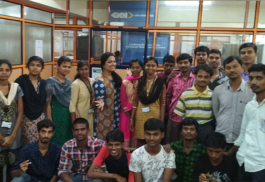 Skill-building sessions for students at Samarthanam Trust For Disabled